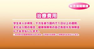 【PTA連合会学生総合保障制度】治療費用