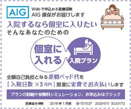 AIG損保 個室に入れる入院プラン